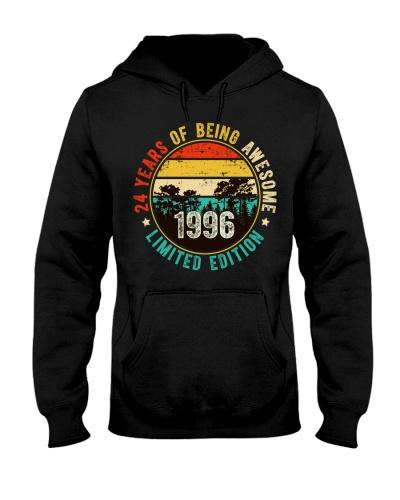 1996 T-Shirt Vintage 24 Years Old Birthday
