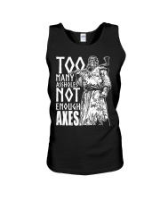 Norse Viking Gift For A Viking Warrior Axes Unisex Tank thumbnail