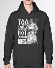 Norse Viking Gift For A Viking Warrior Axes Hooded Sweatshirt garment-hooded-sweatshirt-front-04
