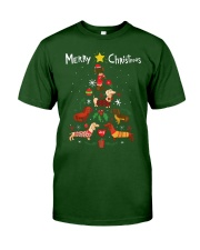Funny Dachshund Christmas Tree Shirt Ornament Deco Classic T-Shirt thumbnail