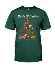 Funny Dachshund Christmas Tree Shirt Ornament Deco Premium Fit Mens Tee thumbnail