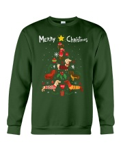 Funny Dachshund Christmas Tree Shirt Ornament Deco Crewneck Sweatshirt thumbnail