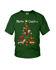 Funny Dachshund Christmas Tree Shirt Ornament Deco Youth T-Shirt thumbnail