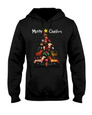 Funny Dachshund Christmas Tree Shirt Ornament Deco Hooded Sweatshirt thumbnail