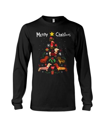 Funny Dachshund Christmas Tree Shirt Ornament Deco