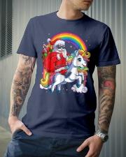Unicorn Christmas Shirt Girls Santa Kids Women Premium Fit Mens Tee lifestyle-mens-crewneck-front-6