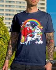 Unicorn Christmas Shirt Girls Santa Kids Women Premium Fit Mens Tee lifestyle-mens-crewneck-front-8