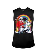Unicorn Christmas Shirt Girls Santa Kids Women Sleeveless Tee thumbnail