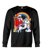 Unicorn Christmas Shirt Girls Santa Kids Women Crewneck Sweatshirt thumbnail