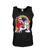 Unicorn Christmas Shirt Girls Santa Kids Women Unisex Tank thumbnail