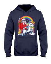 Unicorn Christmas Shirt Girls Santa Kids Women Hooded Sweatshirt thumbnail