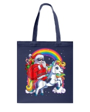 Unicorn Christmas Shirt Girls Santa Kids Women Tote Bag thumbnail