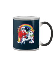 Unicorn Christmas Shirt Girls Santa Kids Women Color Changing Mug thumbnail