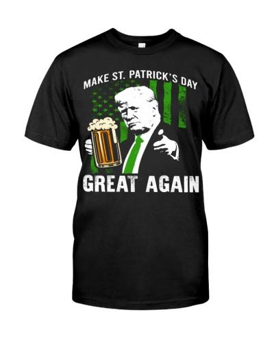 Pro Trump Gift Men Women Make St Patricks Day