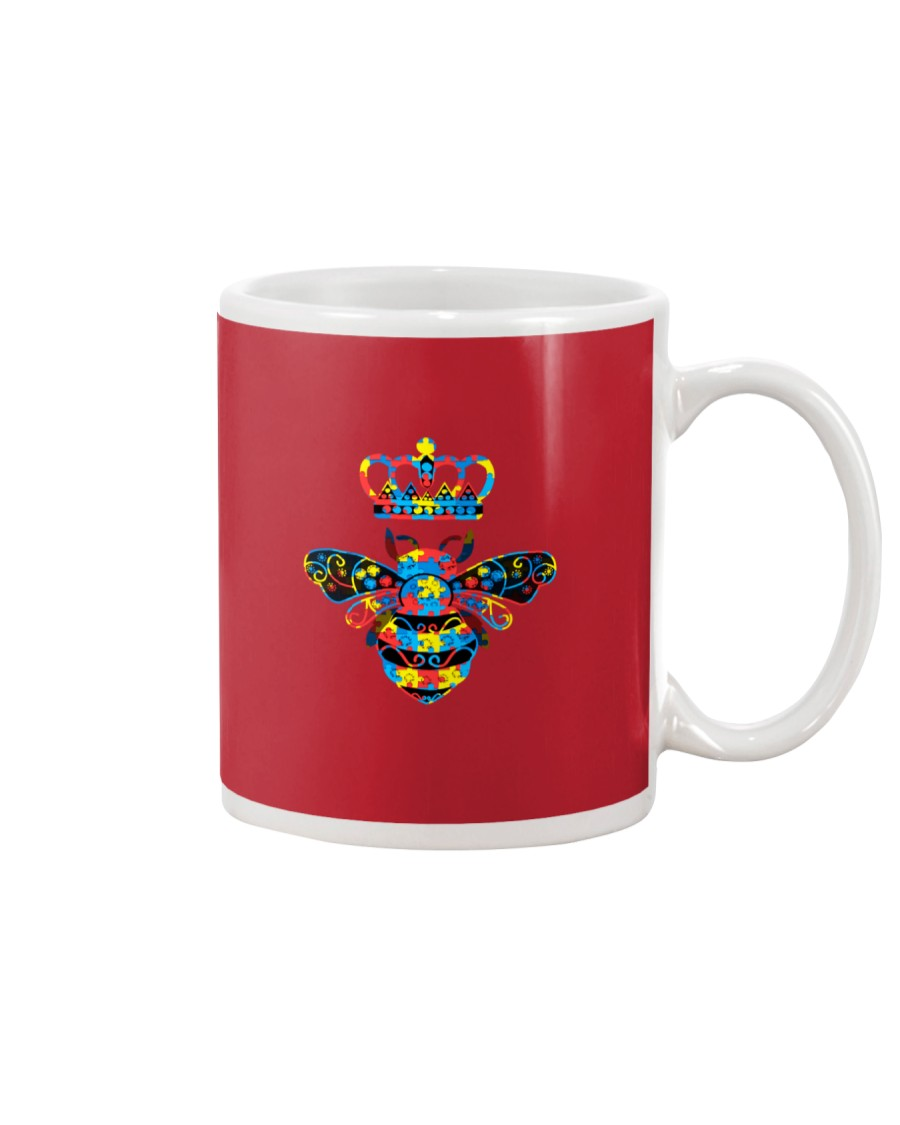 Autism Awareness Bee With Crown And Jewelry Mug