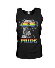 Boxer Gay Pride LGBT Rainbow Flag Sunglasses Funny Unisex Tank thumbnail