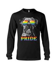 Boxer Gay Pride LGBT Rainbow Flag Sunglasses Funny Long Sleeve Tee thumbnail