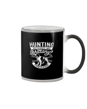Hunting Without My Brittany Dog Pointless Gifts Color Changing Mug thumbnail