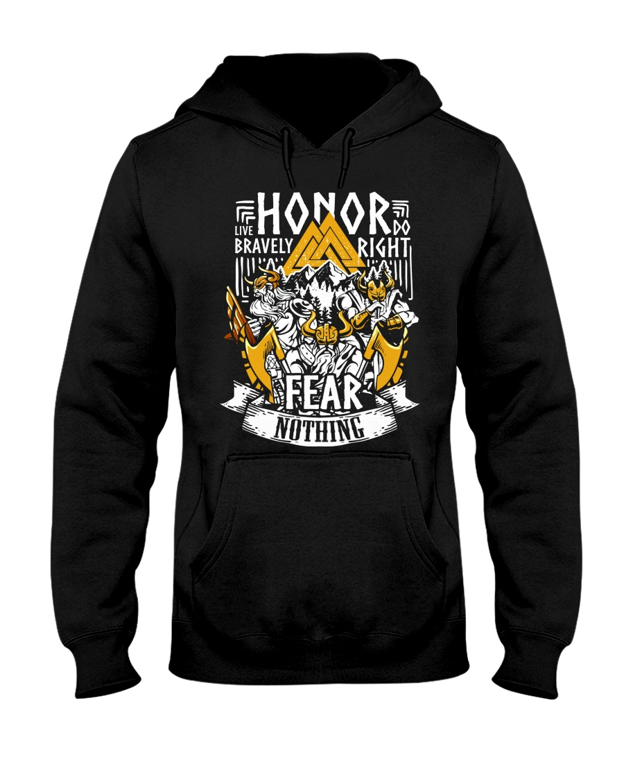 Norse Viking Gift For A Viking Warrior Honor Hooded Sweatshirt