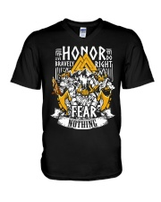 Norse Viking Gift For A Viking Warrior Honor V-Neck T-Shirt thumbnail