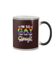 I'm So Gay I Can't Even Think Straight - LGBT Color Changing Mug tile