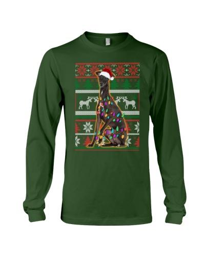Greyhound Ugly Sweater Christmas