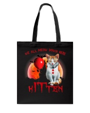We All Meow Down Here Clown Cat Kitten Halloween  Tote Bag thumbnail
