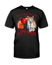 We All Meow Down Here Clown Cat Kitten Halloween  Classic T-Shirt front