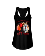 We All Meow Down Here Clown Cat Kitten Halloween  Ladies Flowy Tank thumbnail