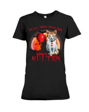 We All Meow Down Here Clown Cat Kitten Halloween  Premium Fit Ladies Tee thumbnail