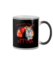 We All Meow Down Here Clown Cat Kitten Halloween  Color Changing Mug thumbnail