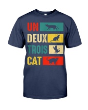 Un Deux Trois Cat Joke Vintage Cat Lover Premium Fit Mens Tee tile