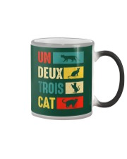 Un Deux Trois Cat Joke Vintage Cat Lover Color Changing Mug thumbnail