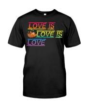Sloth Love is love Gay Pride Shirt Month LGBT Premium Fit Mens Tee thumbnail