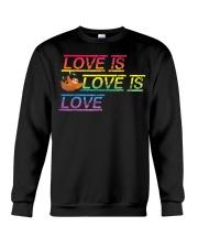 Sloth Love is love Gay Pride Shirt Month LGBT Crewneck Sweatshirt thumbnail