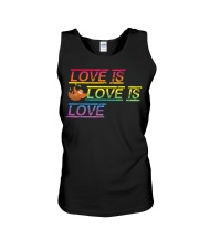 Sloth Love is love Gay Pride Shirt Month LGBT Unisex Tank thumbnail