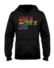 Sloth Love is love Gay Pride Shirt Month LGBT Hooded Sweatshirt thumbnail