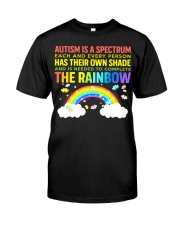 Autism Is A Spectrum To Complete Rainbow Classic T-Shirt thumbnail