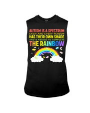 Autism Is A Spectrum To Complete Rainbow Sleeveless Tee thumbnail