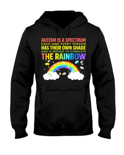 Autism Is A Spectrum To Complete Rainbow