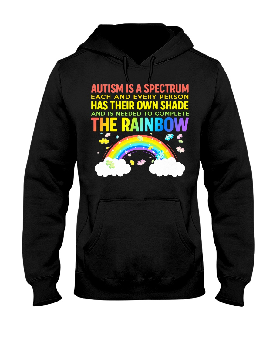 Autism Is A Spectrum To Complete Rainbow Hooded Sweatshirt