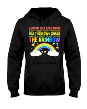 Autism Is A Spectrum To Complete Rainbow Hooded Sweatshirt front