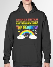 Autism Is A Spectrum To Complete Rainbow Hooded Sweatshirt garment-hooded-sweatshirt-front-04