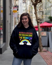 Autism Is A Spectrum To Complete Rainbow Hooded Sweatshirt lifestyle-unisex-hoodie-front-2