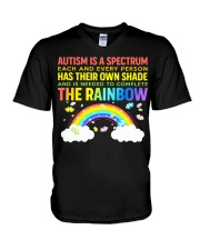 Autism Is A Spectrum To Complete Rainbow V-Neck T-Shirt thumbnail