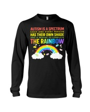 Autism Is A Spectrum To Complete Rainbow Long Sleeve Tee thumbnail