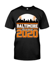 Baltimore Skyline Retro Baseball Shirt 2020 Classic T-Shirt thumbnail