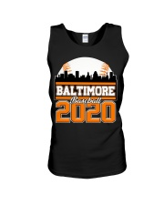 Baltimore Skyline Retro Baseball Shirt 2020 Unisex Tank thumbnail