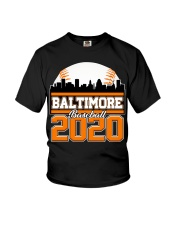 Baltimore Skyline Retro Baseball Shirt 2020 Youth T-Shirt thumbnail