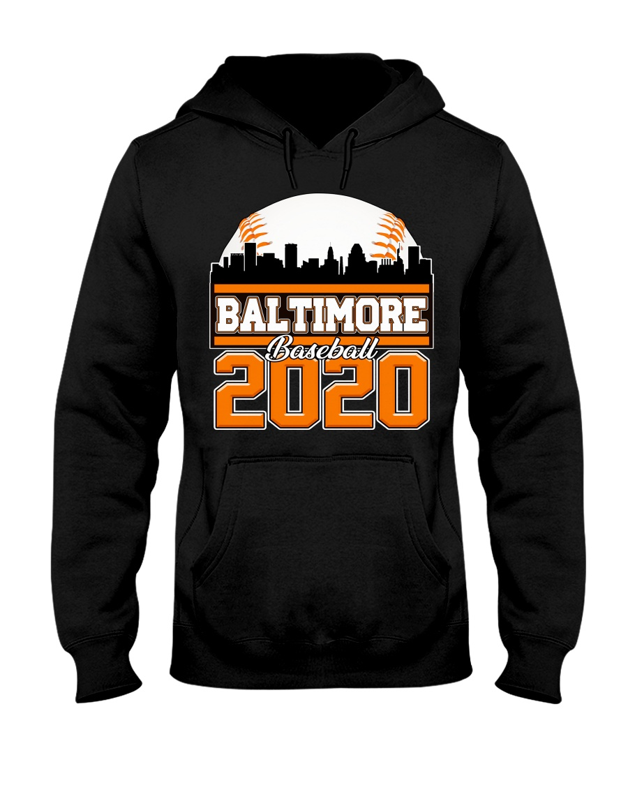 Baltimore Skyline Retro Baseball Shirt 2020 Hooded Sweatshirt